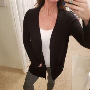 BDG Women's Black Knit Open Cardigan Size Medium